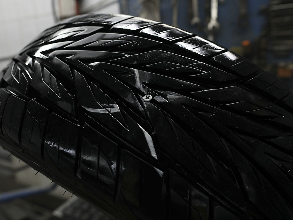 Ремонт протектора шины